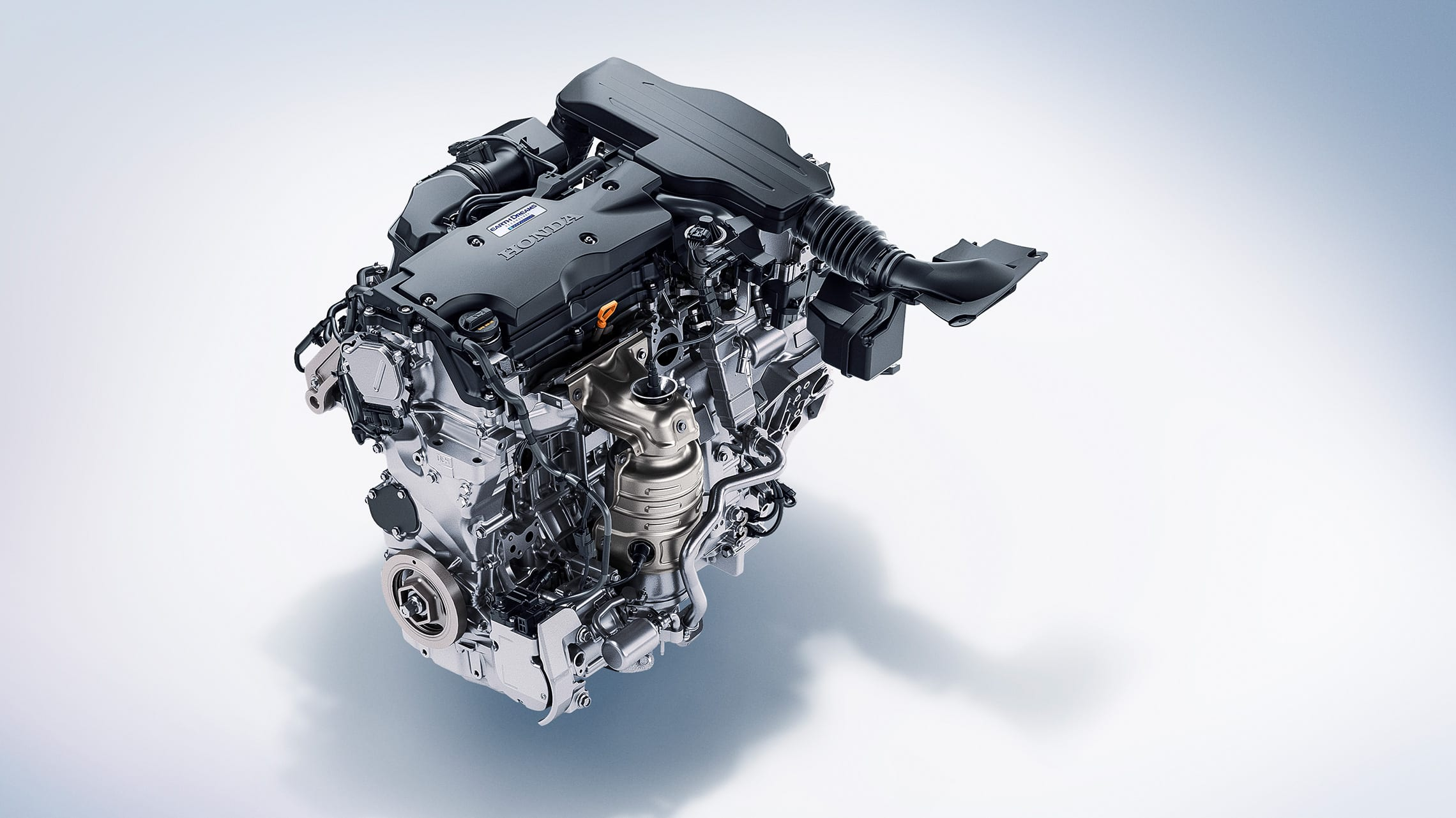 Hybrid engine detail in the 2020 Honda Accord Hybrid.