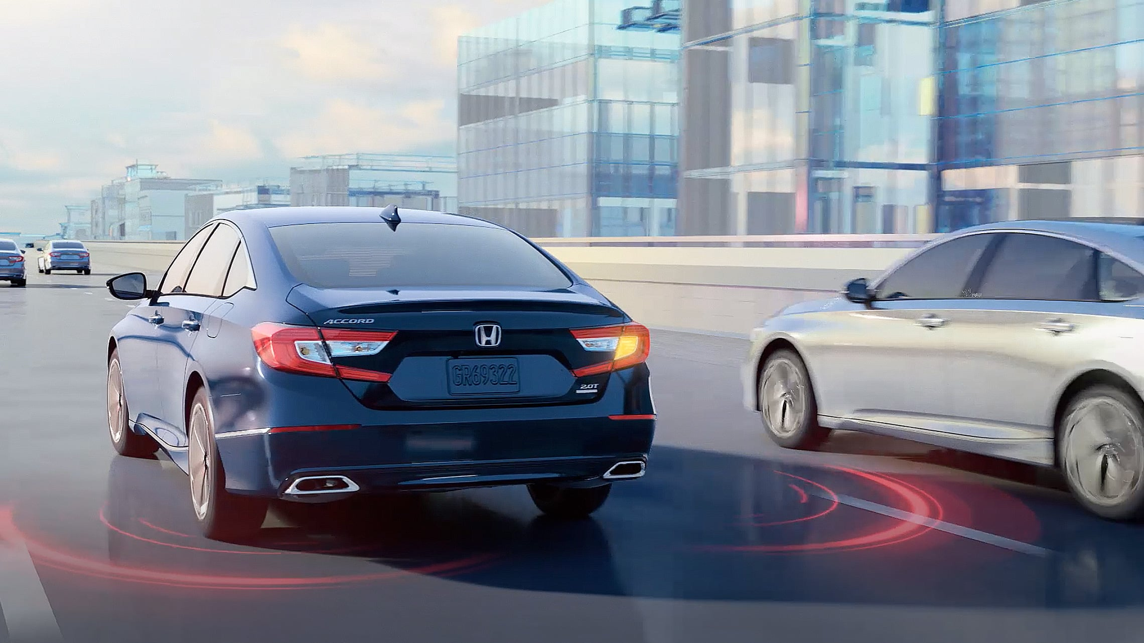 2020 Honda Accord demonstrating Honda Sensing® feature.